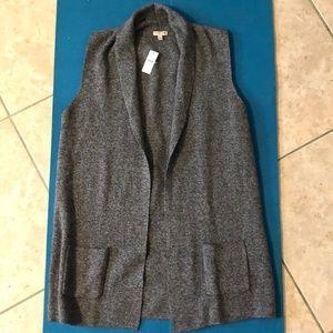 NWT Talbots 100% cotton open sweater vest